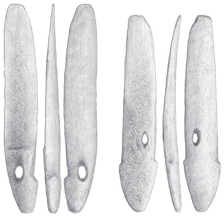 Тяжёлые гарпуны из оленьего рога. Культура «саккак»