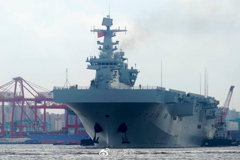 В Китае показали изображение новейшего вертолётоносца Type 075 LHD Guangxi