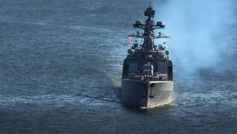 Российский БПК предпринял все меры по недопущению вхождения американского эсминца в территориальные воды России